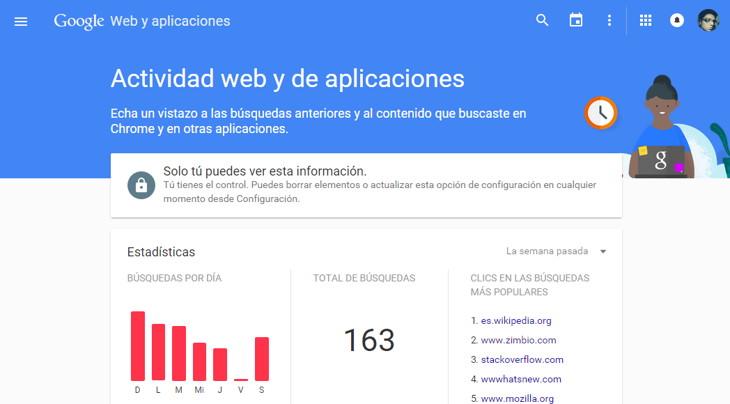 historial web google