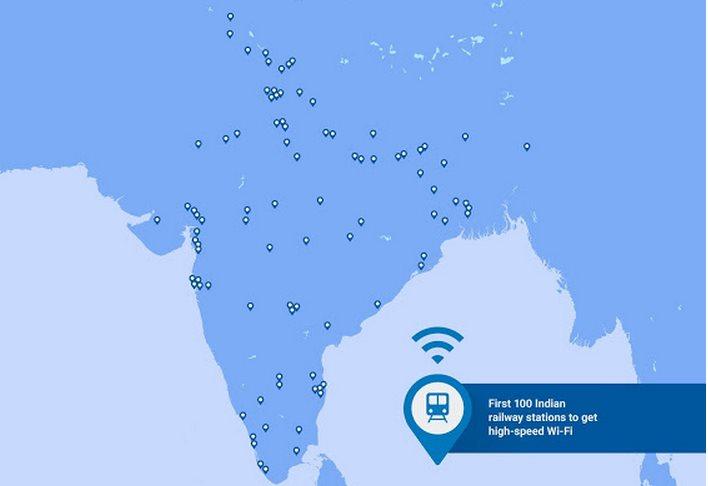 Estaciones de tren con WiFi de Google