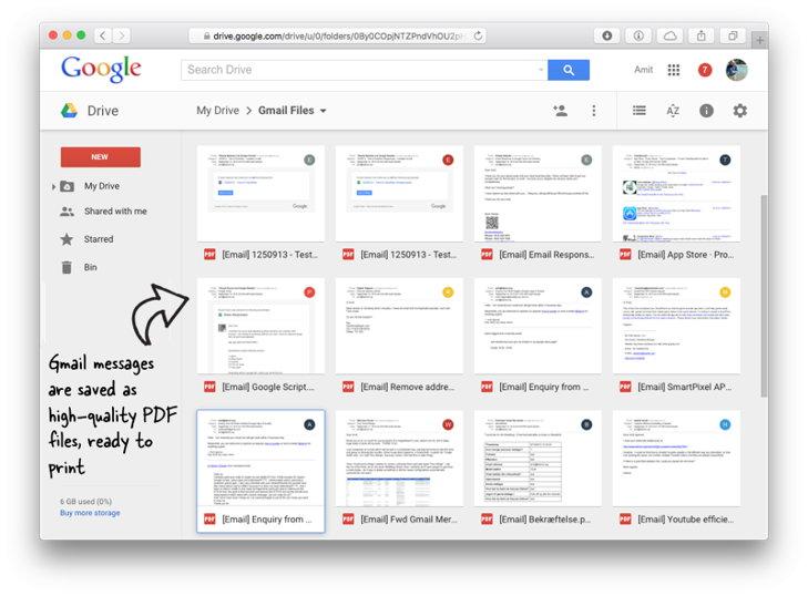 imprimir multiples correos gmail