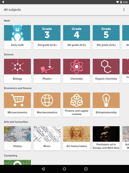 Disponible la aplicación oficial de Khan Academy para Android (versión beta)