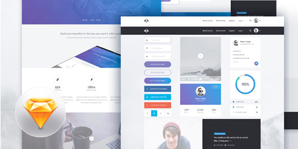 Land.io: Un Kit the Elementos De Interfaz Para Landing Pages