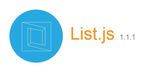 List.js: Un Plugin De JavaScript Que Añade Filtros, Organización Y Flexibilidad a Listas De HTML.