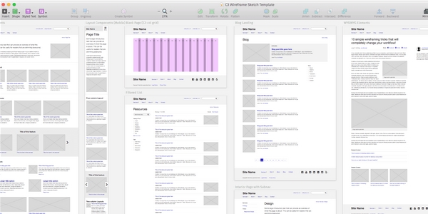 Plantilla De Wireframing Para Sketch