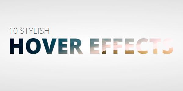 Set De 10 Efectos En Para Títulos En CSS Al Paso Del Mouse
