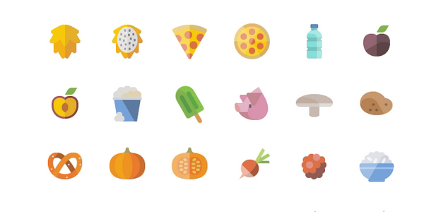 Set De Mas 6700 Iconos De Comida En Estilo Flat