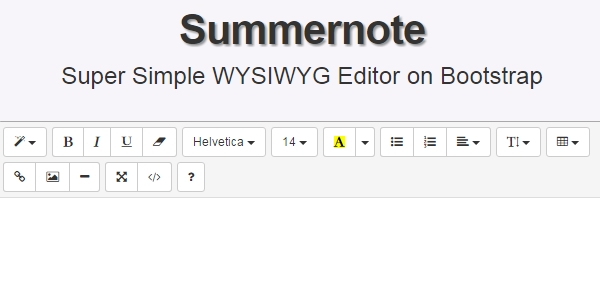 Summernote: Un Editor De WYSIWYG  Para Bootstrap