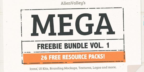 Un Pack De 26 Freebies De Calidad Incluyendo Mockups, Texturas, Logos Y Mas.
