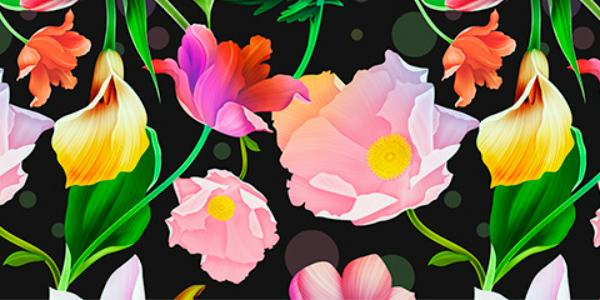 Un Set De 6 Patrones Florales En Formato JPG
