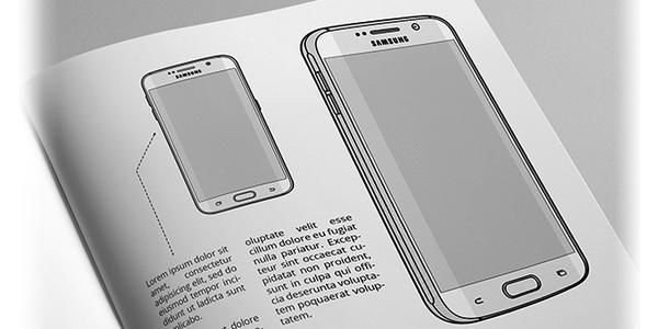 Un Set De 75 Mockups En Estilo Linea De Dispositivos Mobiles Y De Escritorio
