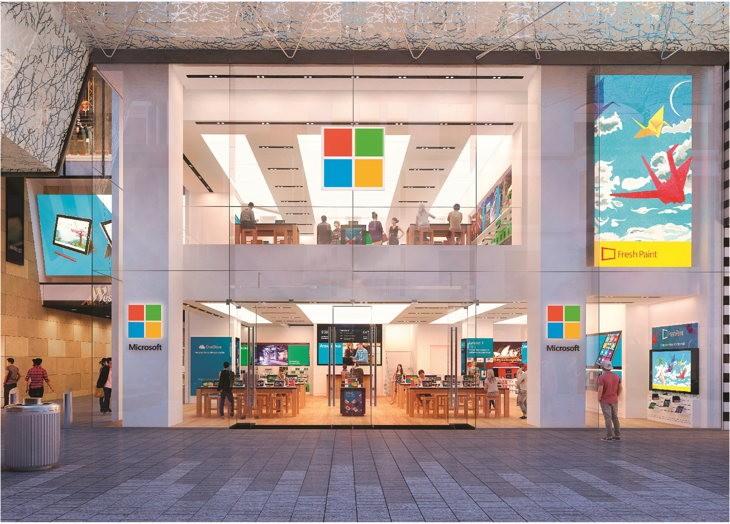 Render de la Microsoft Flagship Store en Sidney, Australia