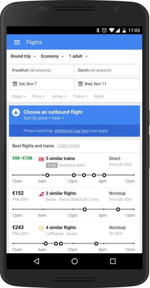 Trains in flights