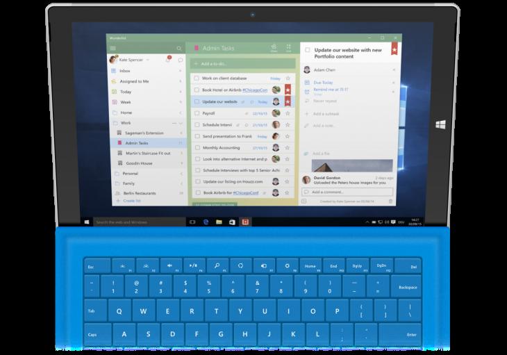 Wunderlist-Windows10