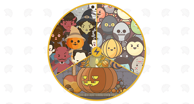 Asombroso Kit De Vectores Para Halloween: Iconos, Avatares, Personajes Y Escenarios