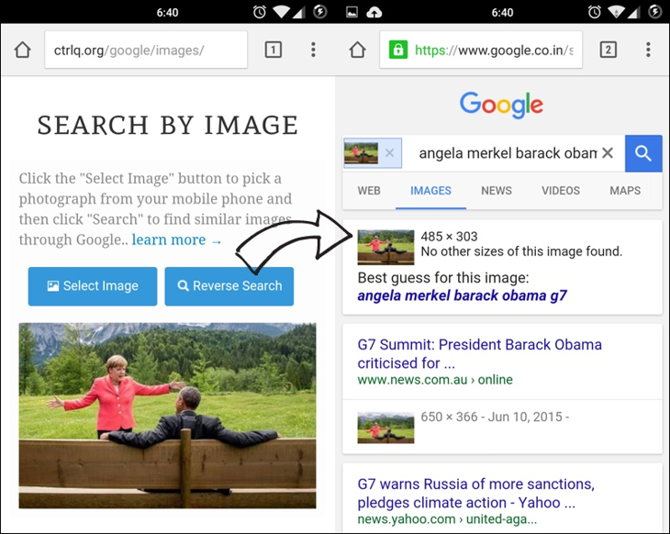 how to use pictures to search the internet