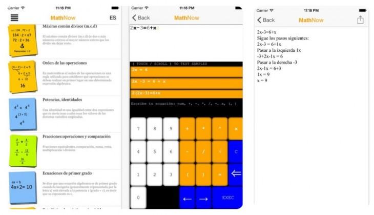 MathNow, aplicación móvil para resolver problemas matemáticos paso a paso