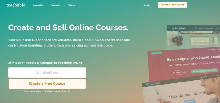 teachable, para crear y vender cursos en Internet