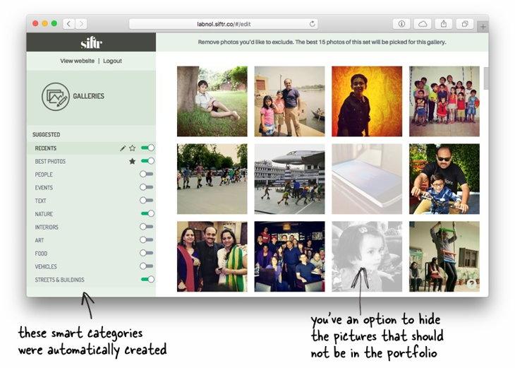 sitio web fotografia