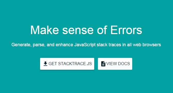 StackTrace.JS: Framework De JavaScript Para Manejo De Stack Traces