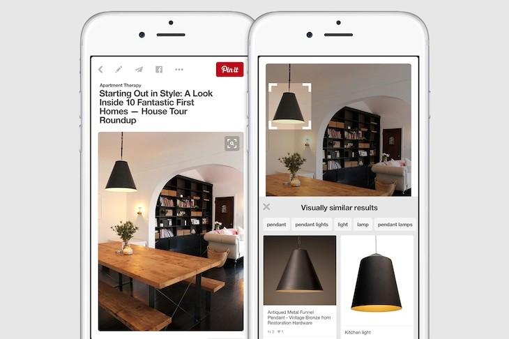 Pinterest permite seleccionar elementos dentro de una imagen para buscar otros similares
