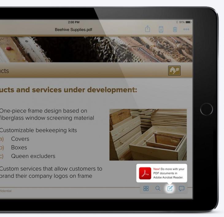 Editando un archivo PDF de Dropbox desde iPad