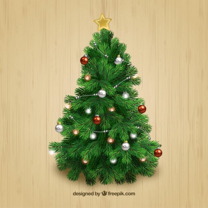 El clásico árbol de Navidad