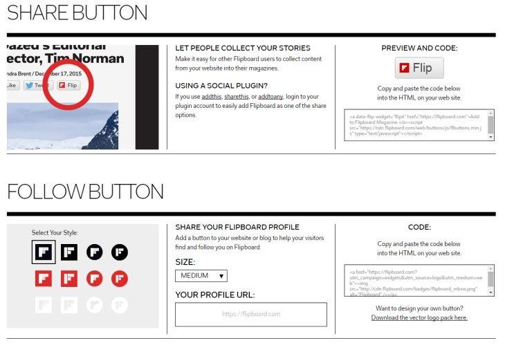 Imagen: Nuevos botones para editores