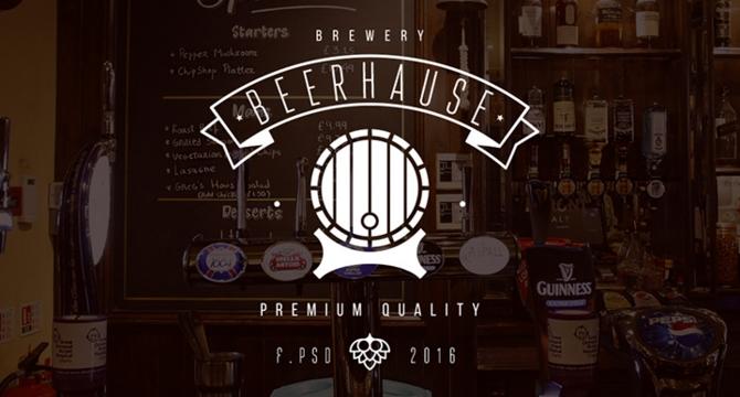 Beerhause: Plantilla Web En Formato PSD Para Cantinas Y Tabernas