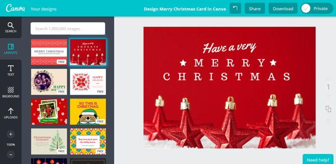 canva tarjetas de navidad