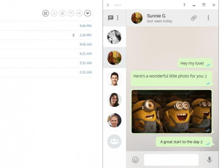 Whatsapp integrado en mailbird