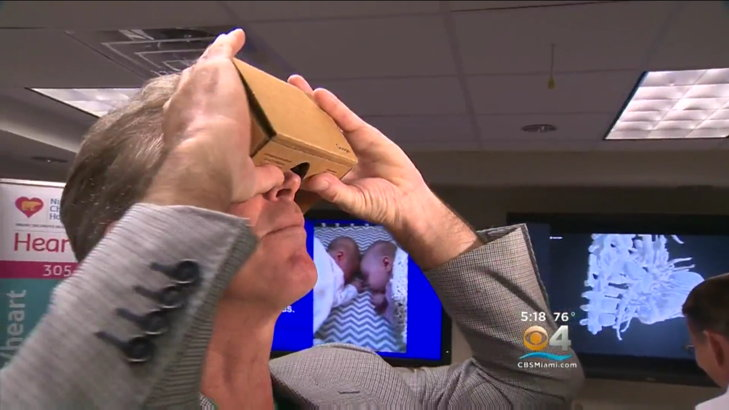 cirujano google cardboard