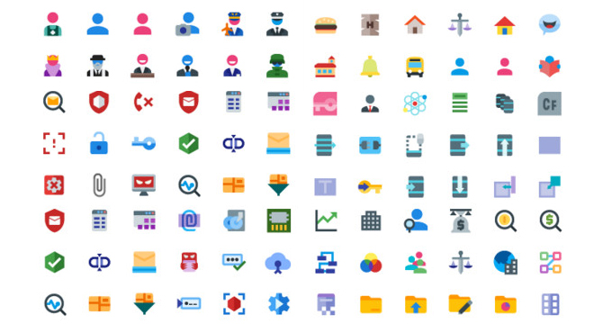 Coleccion De 15 Sets De Iconos En Material Design