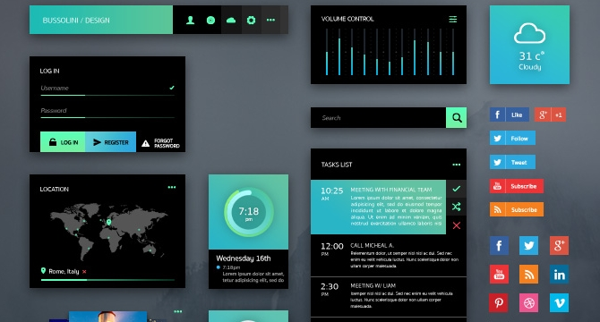 GreenLight: Kit De Interfaz De Usuario Moderna Con Gradientes De Color