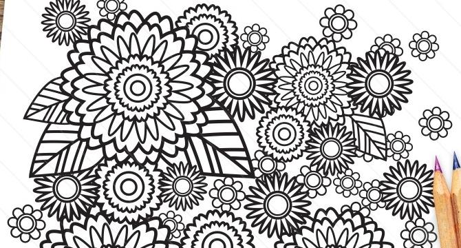 Ilustraciones Listas Para Colorear Y Liberar Estres