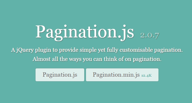 Pagination.js: Plugin De JQuery Para Paginacion Personalizable