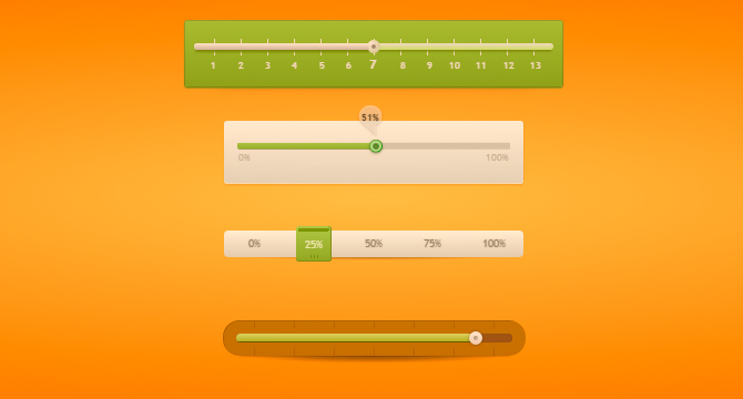 Prettify: Perillas Lineales De Control Por Porcentaje