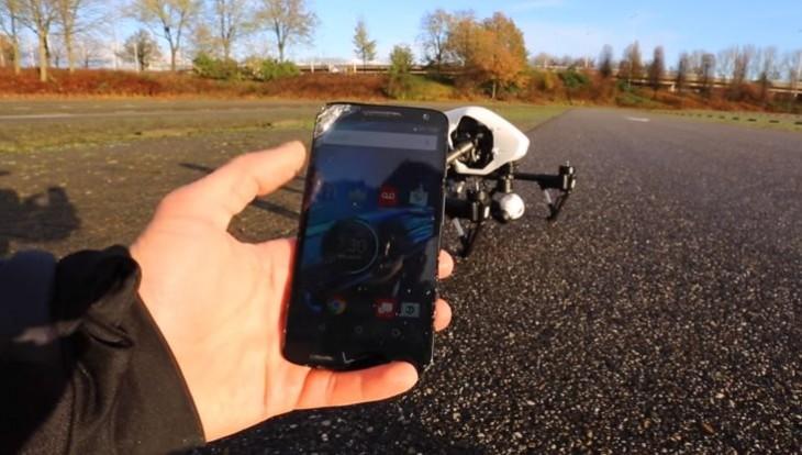Aspecto del móvil después de la caída