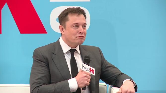 Elon Musk en el StartmeupHK Festival de Hong Kong