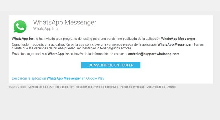 WhatsAppMessengerTESTER