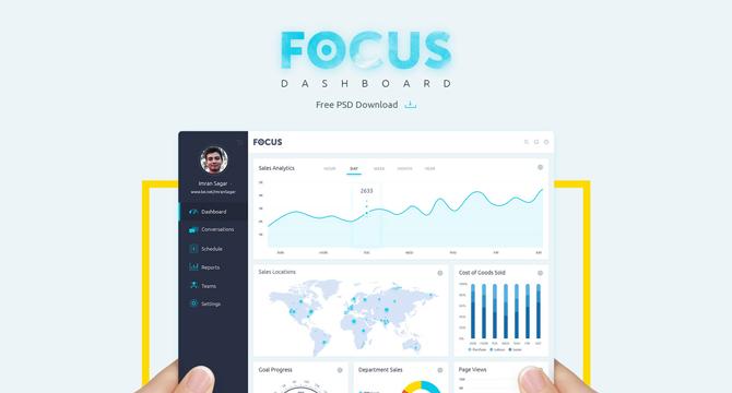 Focus: Plantilla PSD Para Dashboard De CMS