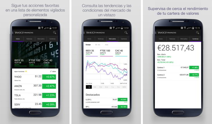 yahoo finance finanzas app