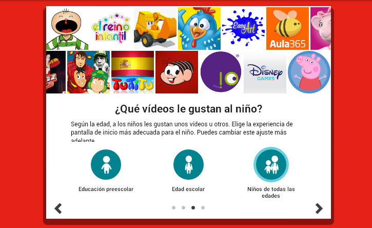 YouTube Kids - Rango de edad