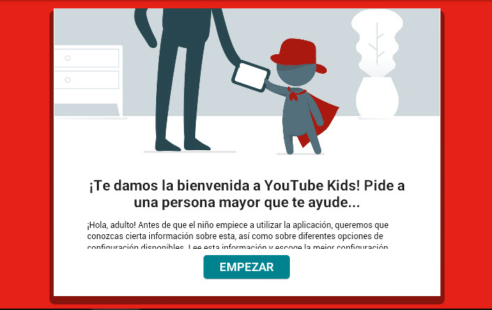 YouTube Kids - bienvenida