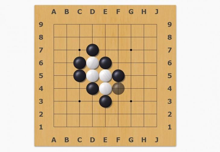 tablero simplificado de Go