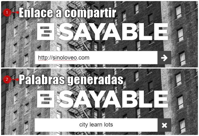 compartir enlaces sayable