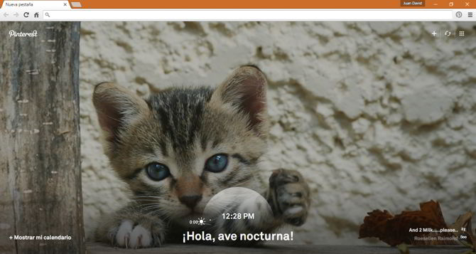 fotos pinterest chrome