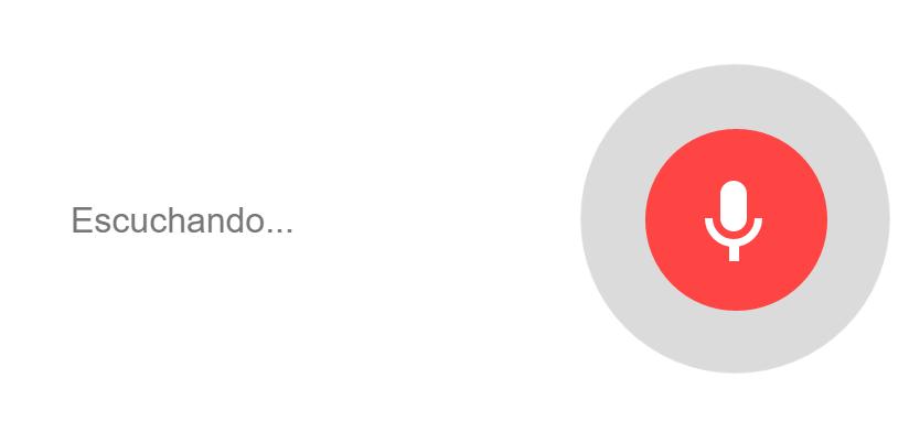 google reconocimiento de voz