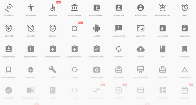 Iconos Material Design En Sketch
