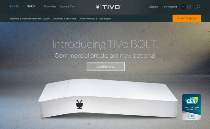 Imagen: Web oficial de TiVo