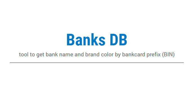 Banks DB: Una Herramienta Para Nombres De Bancos Y Colores De Marcas De Tarjetas De Crédito