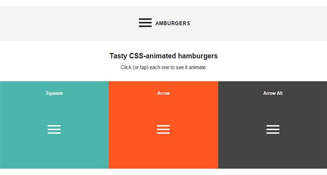 Iconos De Menú Hamburguesa Animados